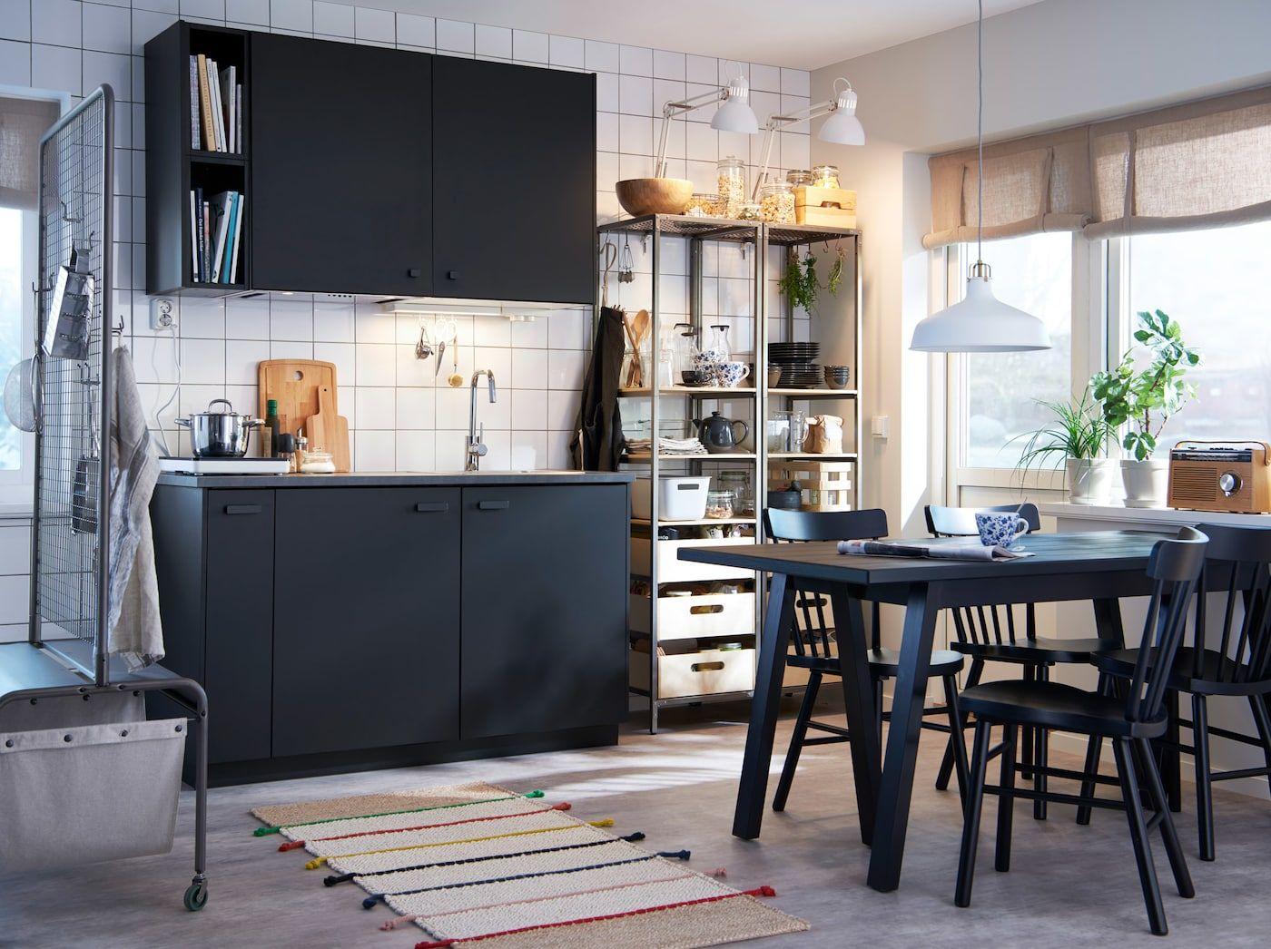 Effen zwarte duurzame keuken (mit Bildern) Ikea