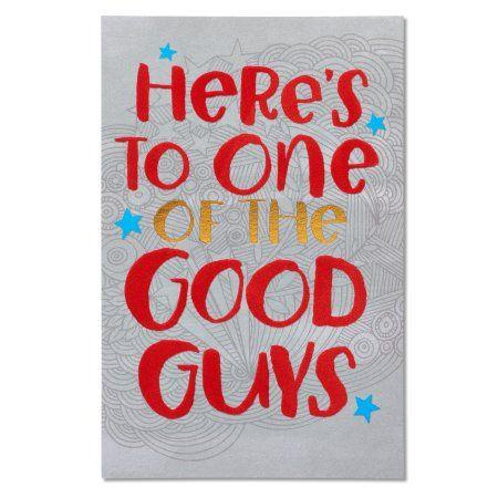 American Greetings Good Guys Birthday Card With Foil Walmart