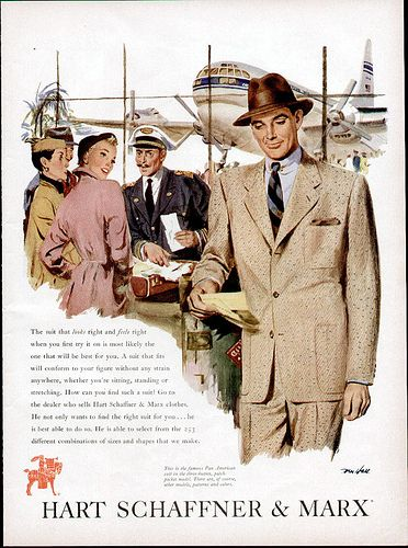 1950s Mens Clothing ad
