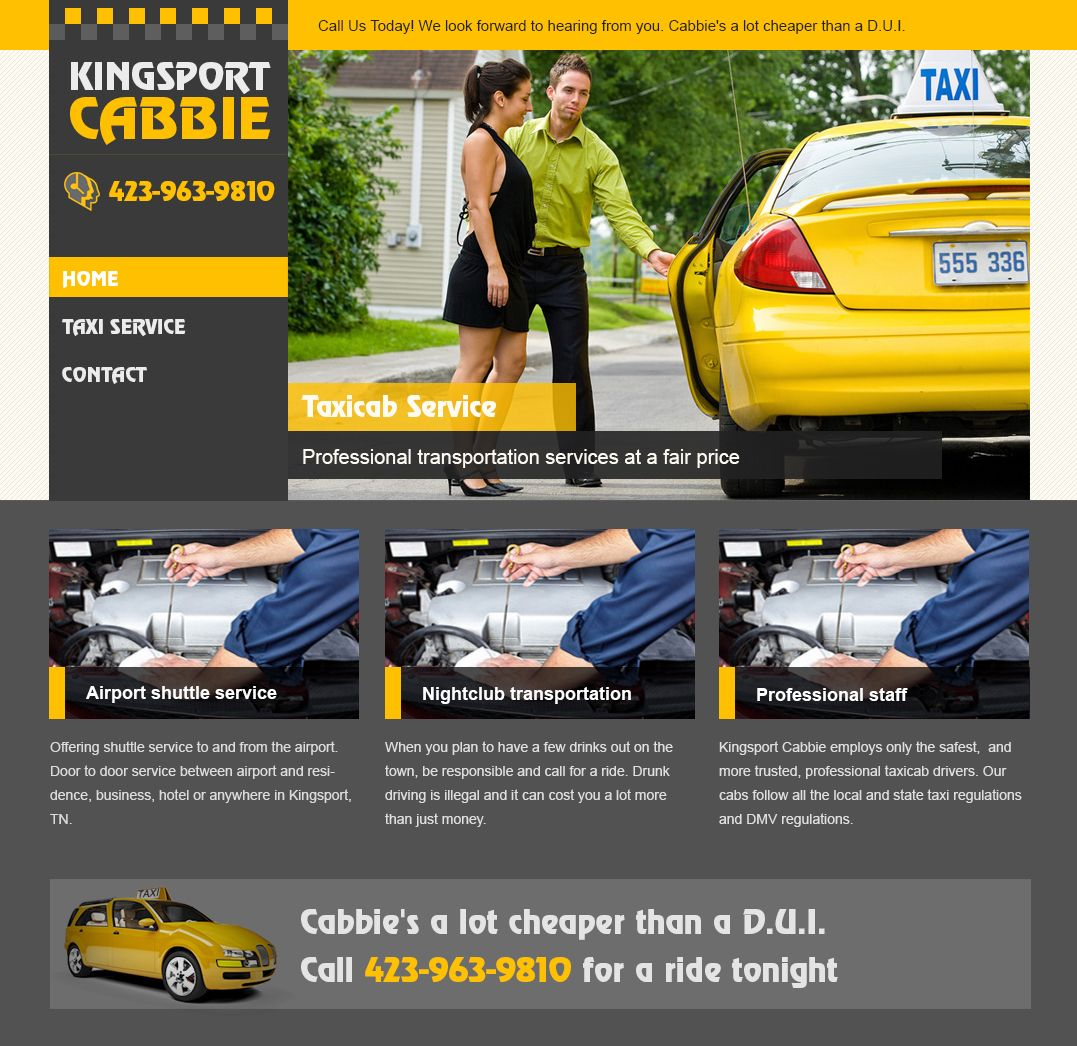 Taxi website template | web templates | Pinterest | Web inspiration