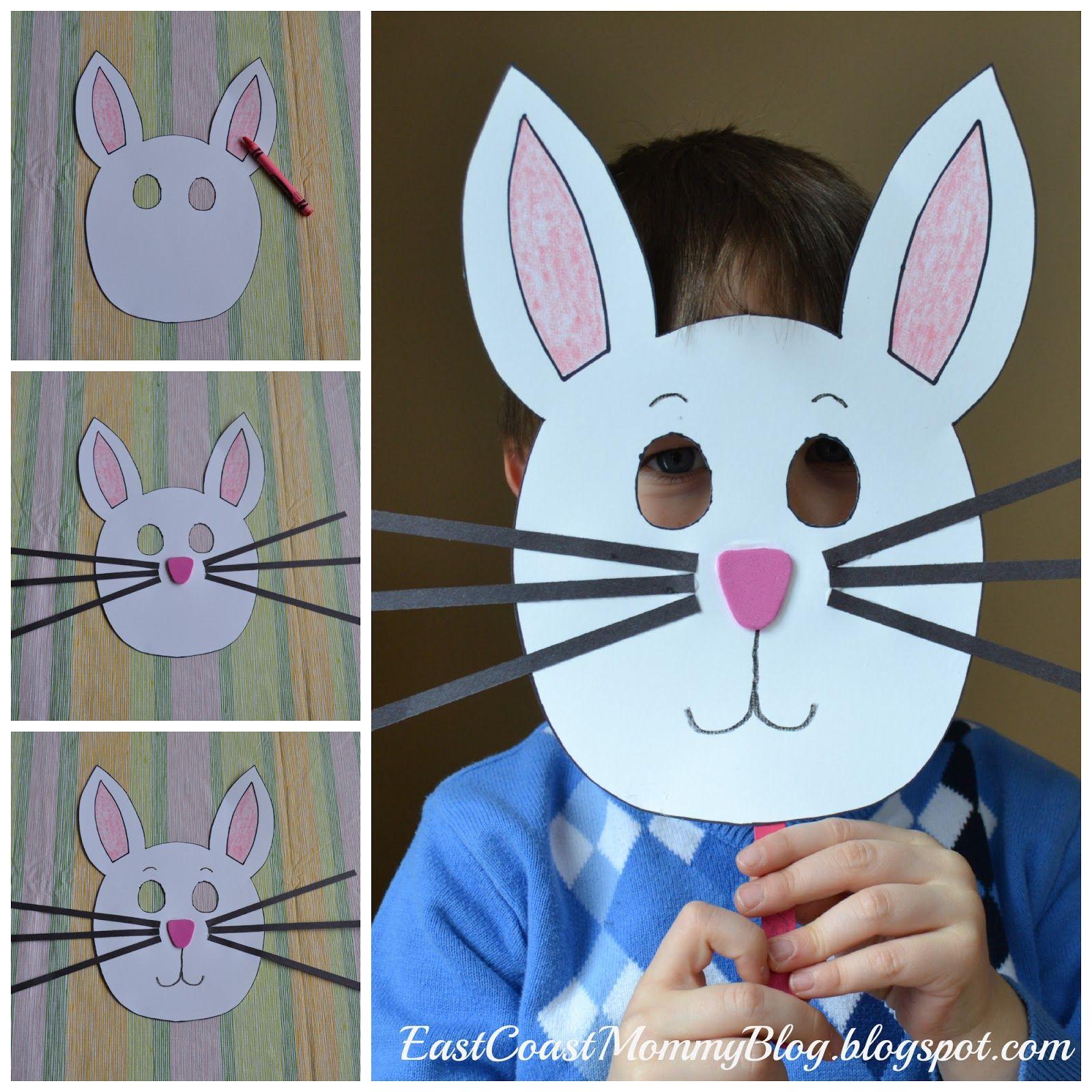Bunny Mask Teaching Tidbits Easter Crafts