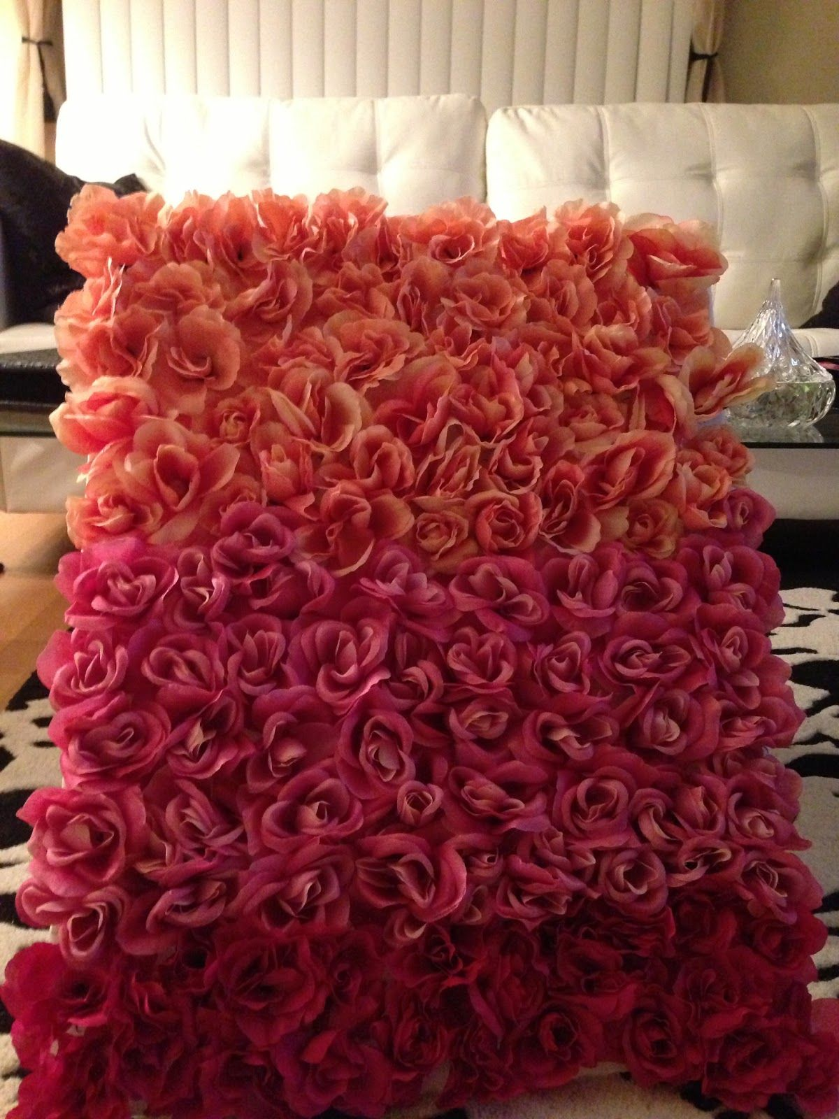 Diy Wall Flowers: This Person Used A Simple Foam Board And Bundles Of