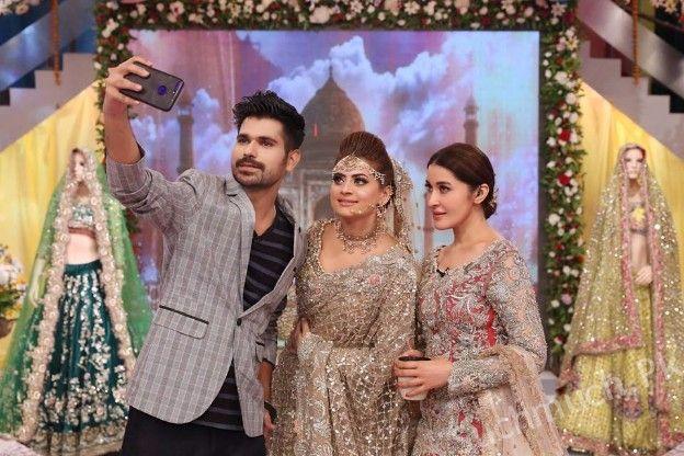 Kashee S Mehndi Makeup : Kashees bridal makeup in shaista lodhi morning show