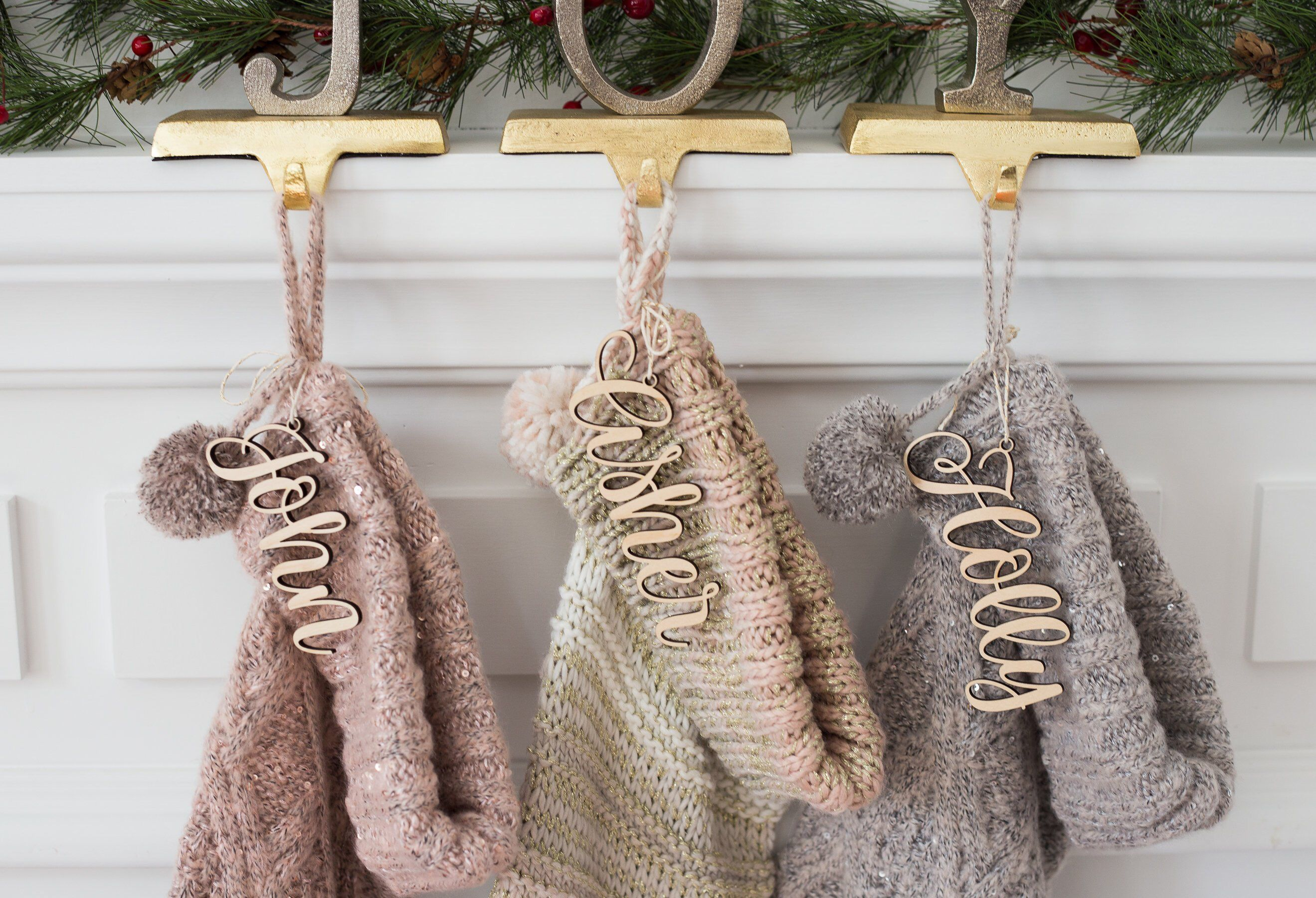 Wooden Names for Stocking, Christmas Stockings Name Cutout
