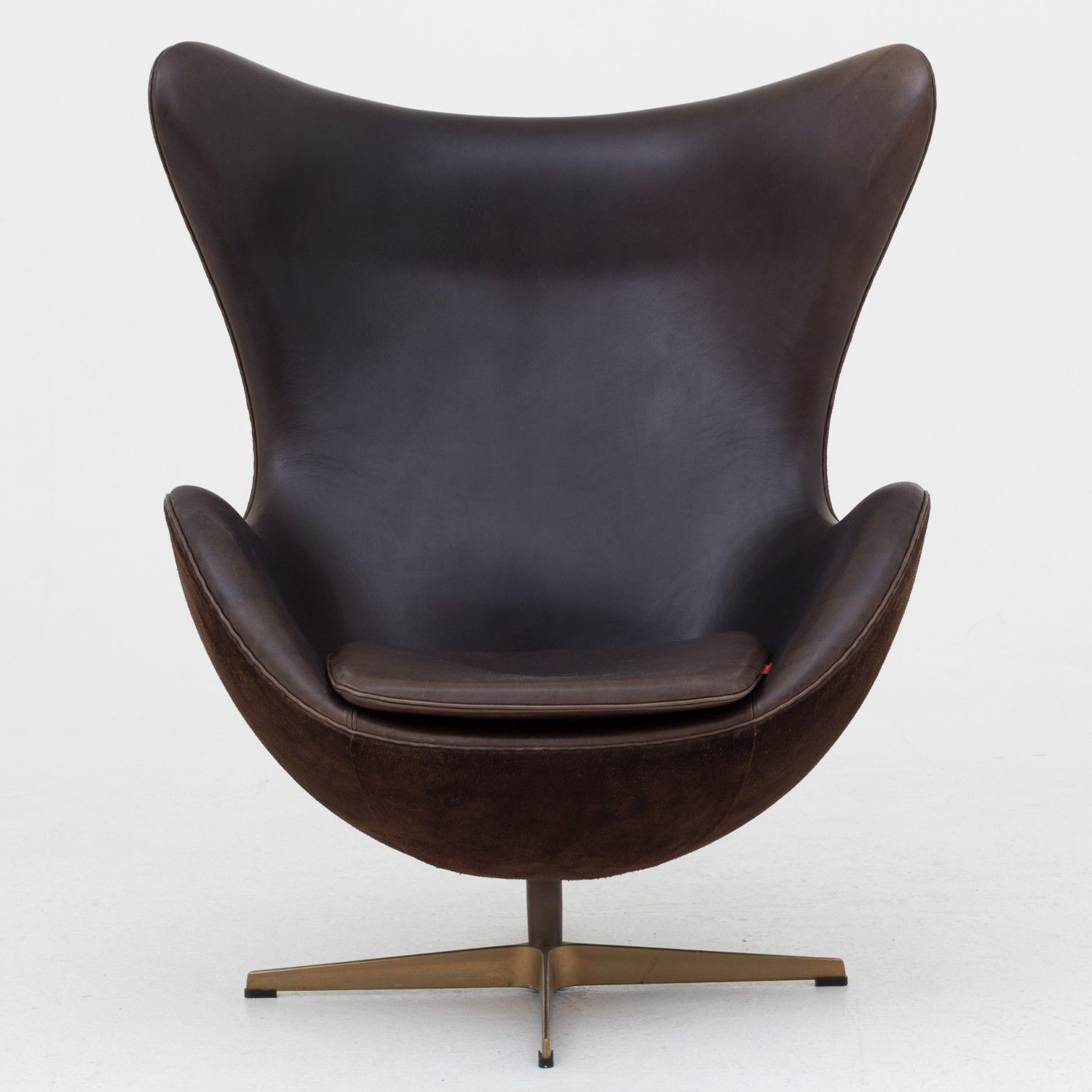 Egg chair   Brown leather recliner chair, Egg chair, White ...