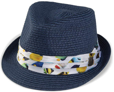 564f06f2bc8 Nick Graham Men's Novelty Straw Fedora - Navy Hats | หมวก in 2019