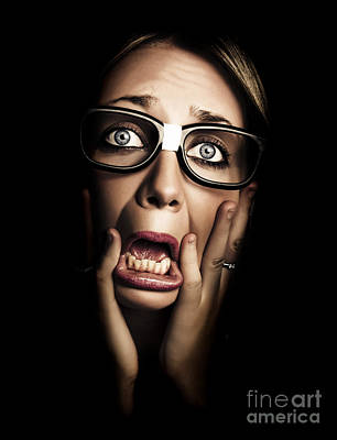 Betrayal Wall Art Photograph Dark Face Of Business Woman Under Stress And Fear By Jorgo Photography Wa Scared Face Drawing Scared Face Person Photography