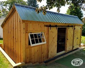 The 12x Saltbox Shed Comes Standard With A Set Of Pine Double Doors And Two Barn Sash Windows This Extremely Versatile Cottage Shed Building A Shed Shed Plans