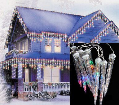 39 99 0 00 Set Of 8 Led Dripping Icicle Lights Item 03396 Features Total Of 8 Tube Lights Simu Icicle Christmas Lights Icicle Lights Blue Christmas Lights