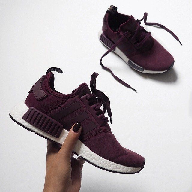 burgundy adidas shoes