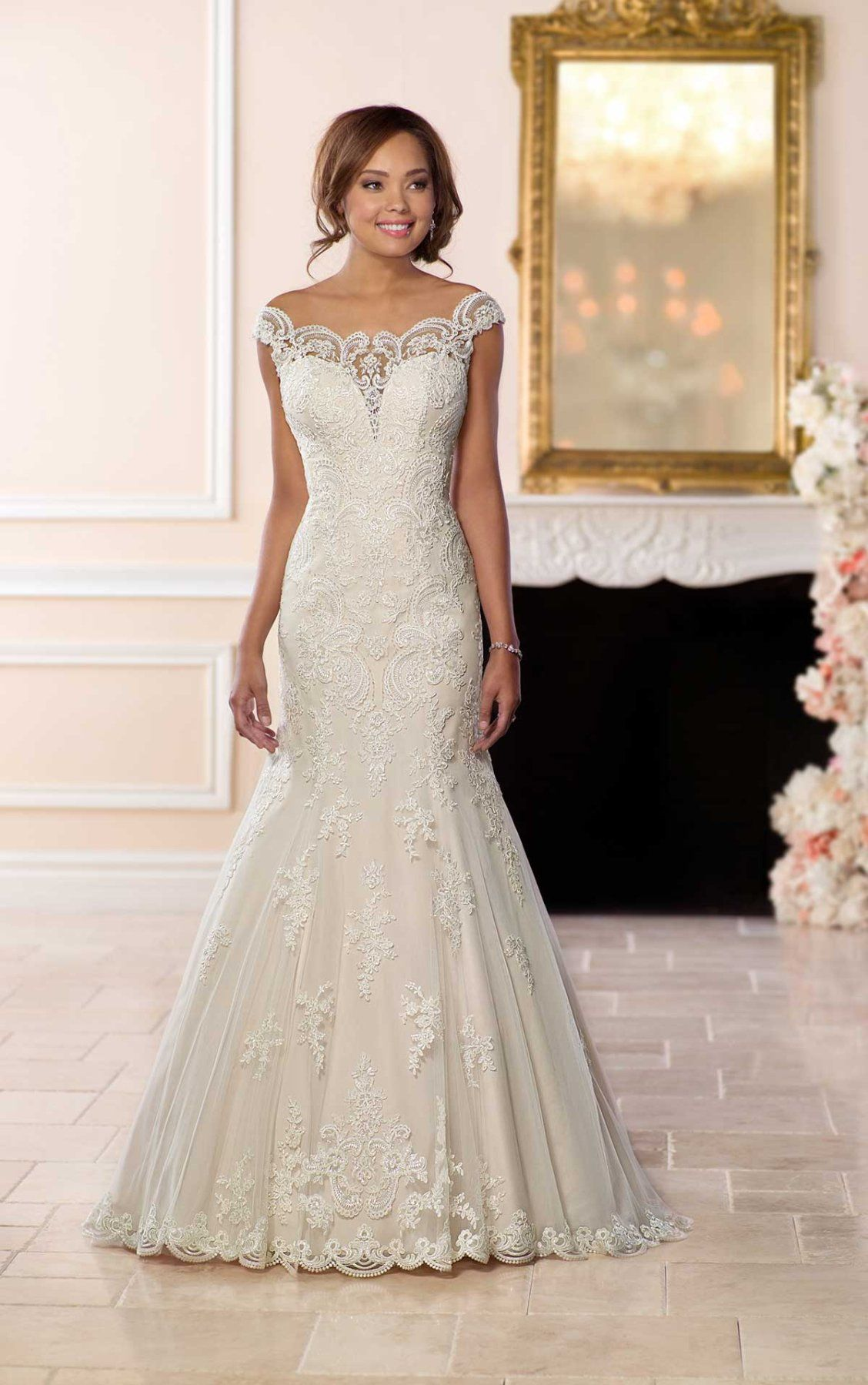 Sheer Lace Offtheshoulder Sleeves Give This Romantic Princessstyle Wedding Dress A Unique Boho Feeling Designer Stella York Has Created: Wedding Dress Sleeves Princess Styles At Reisefeber.org