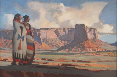 , Masterpieces from the Loom Paintings - Ray Roberts - Navajo Land