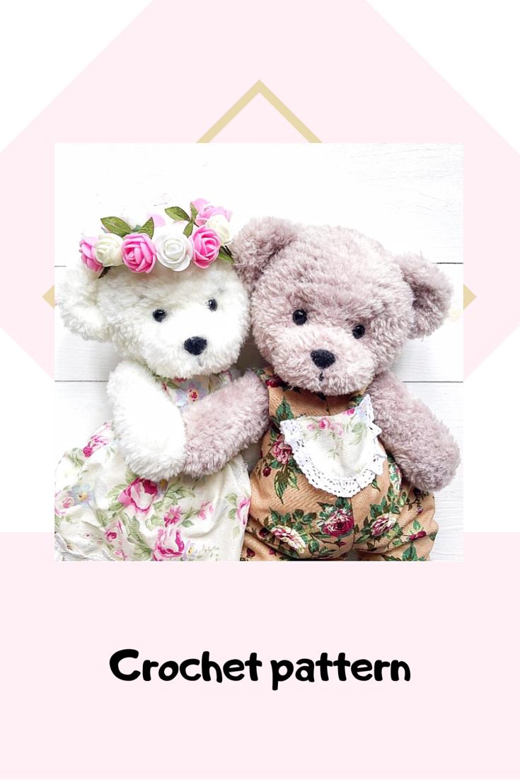 Crochet Teddy Bear PATTERN Amigurumi plush crochet pattern   Etsy #crochetteddybears