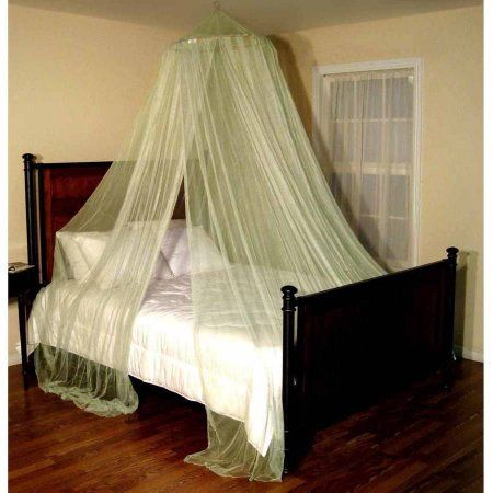 Oasis Round Hoop Sheer Bed Canopy Green Round Beds