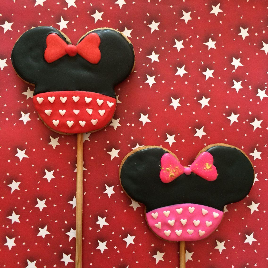 Love Minnie cookies cookies saint valentine's  icing glass 14 february Galletas de minnie de san valentin, 14 de febrero