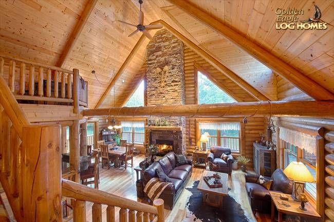 Lofted Log Floor Plan from Golden Eagle Log & Timber Homes
