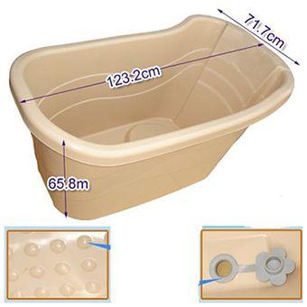 Model 1017 Deep Soaking Portable Bathtub Plastic Bathtub