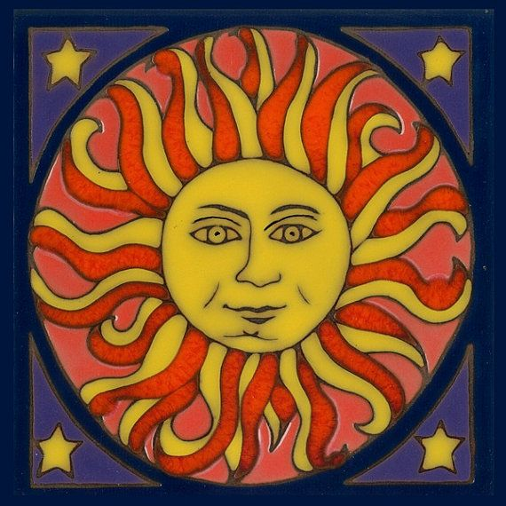 Sun Magnet By Pacificbluetile On Etsy 4 00