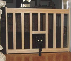 Cat Escape Gate With Cat Door Pet Gate And Safety Gate