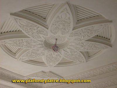 plafond platre sculpte marocain faux plafond pinterest ceilings moldings and balconies. Black Bedroom Furniture Sets. Home Design Ideas