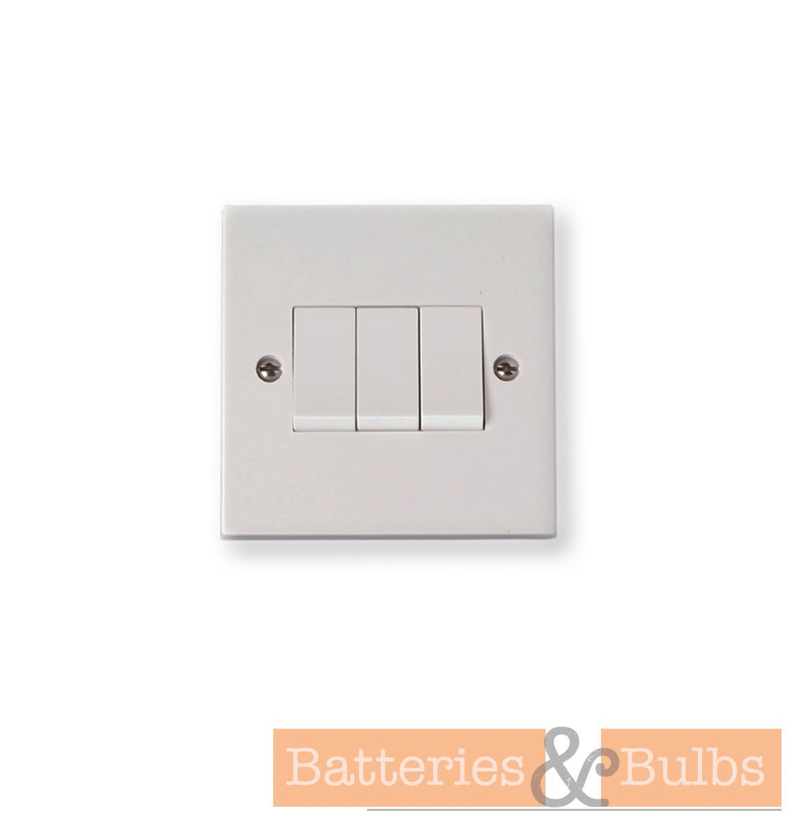 6A 3 Gang 2 Way White Light Switch Standard Socket CL32 3 Switches ...