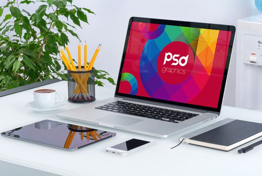 Free Mackbook Pro Mockup PSD | PSD.Graphics | #free #photoshop #mockup #psd #apple #mackbook #pro