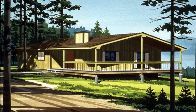 Cabin House Plan With 1164 Square Feet And 3 Bedrooms S From Dream Home Source House Plan Beach Style House Plans Ranch Style House Plans Beach House Plans