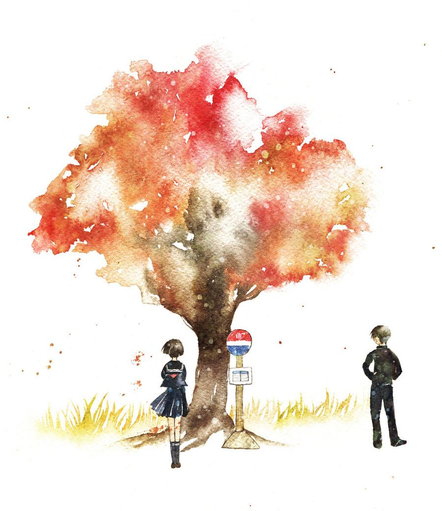 another possible future watercolor tattoo just the tree though...