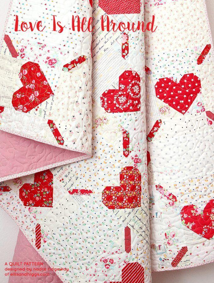 Download Love Is All Around - Valentine's Day Quilt Pattern by ...