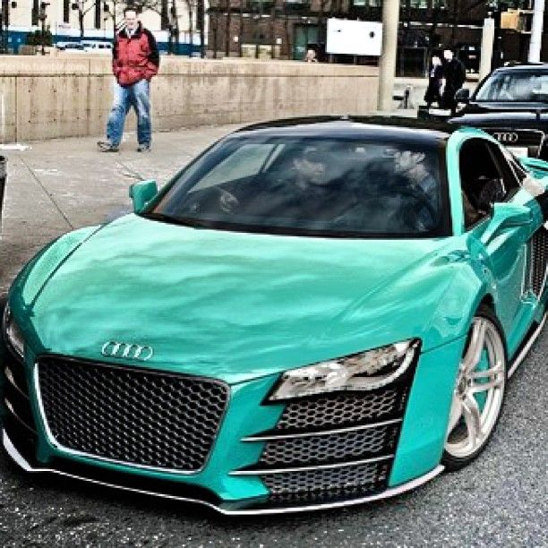Turquoise Audi Ahhhhhhhh I Want One!