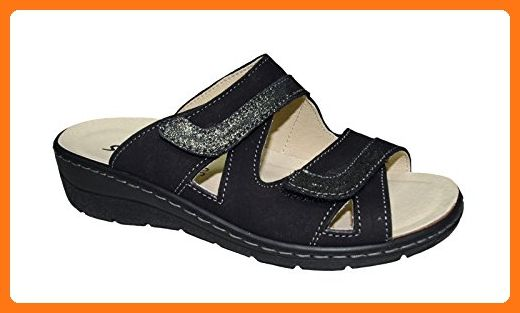 Grunland Damen Clogs & Pantoletten Schwarz Schwarz 42, Schwarz - Schwarz - Größe: 43