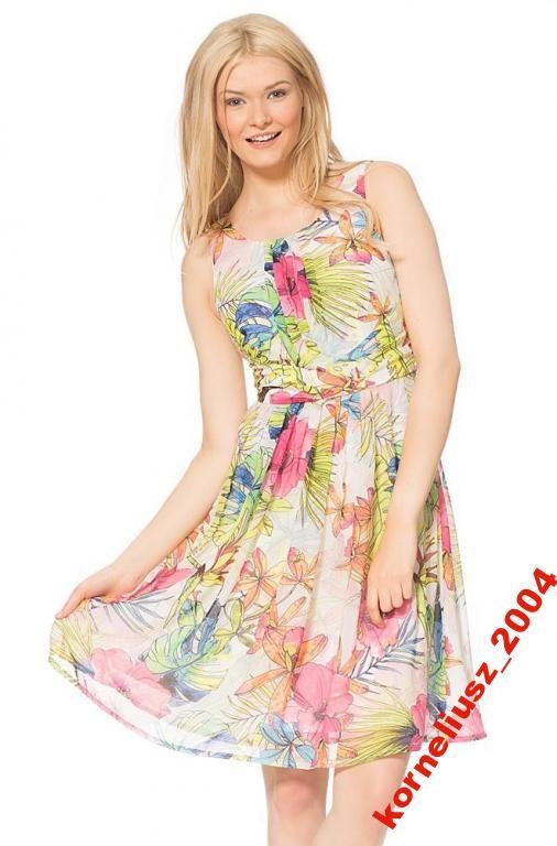 Nowosc Z Orsay Sukienka W Kwiaty Roz 36 169 95 Zl 4382103655 Oficjalne Archiwum Allegro Summer Dresses Dresses Fashion