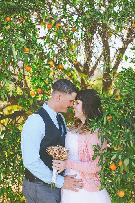 500 California Orange Grove Elopement Elope wedding