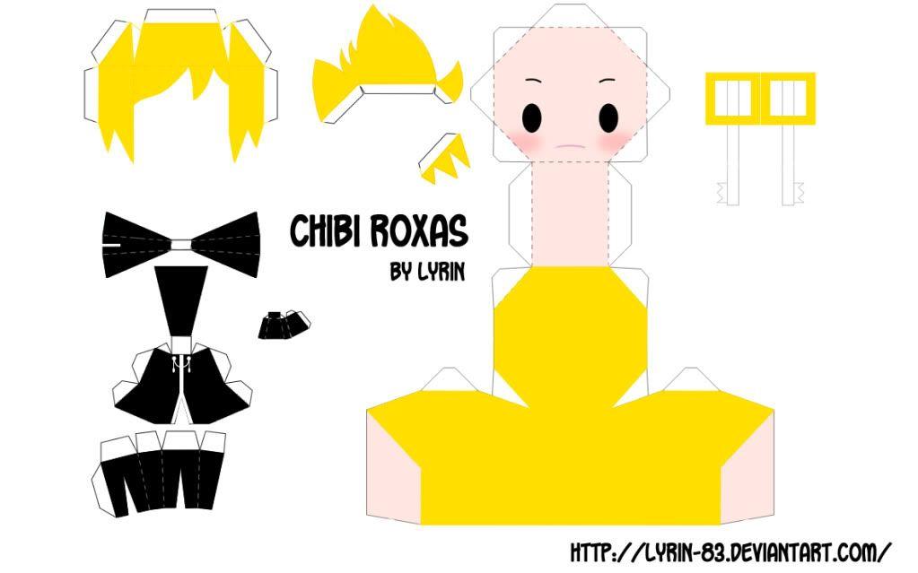 Anime Papercraft  Chibi Roxas  Papercraft Museum  Paper