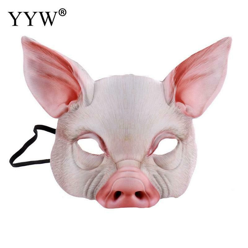 Latex Animal Masque Guinea Pig Head Cosplay Déguisement Nouveauté Masquerade Fête
