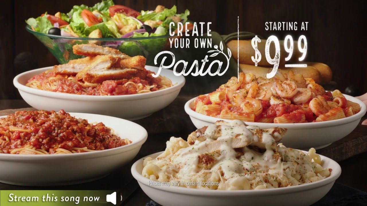 Enjoy more of what you love. All day long. At Olive Garden