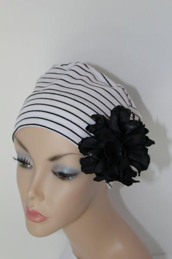Chemo Hat Cancer Cap Sleep Alopecia Female Pattern Baldness Soft ... 3c7cd86e9ae