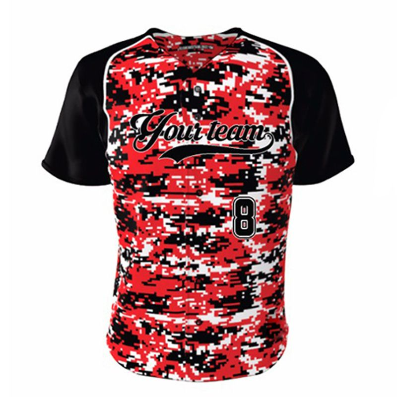cool custom men women camo baseball shirt design your own logo name quick dry full - Baseball Shirt Design Ideas