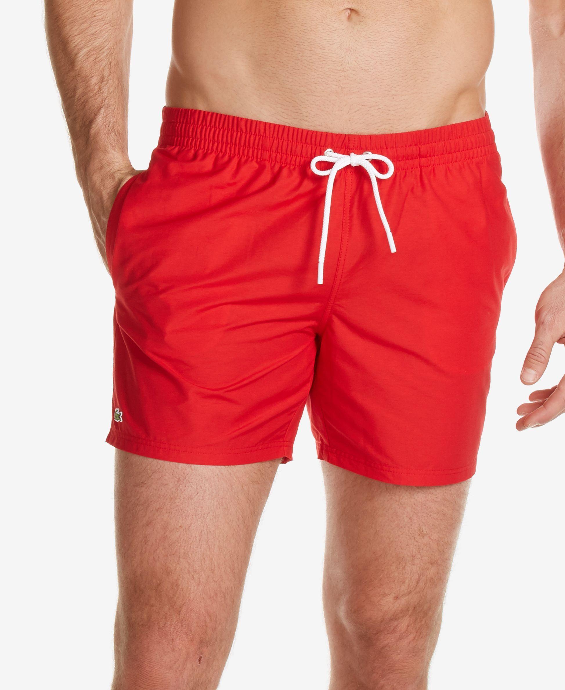 e4724f86 Lacoste Men's Basic Swim Trunks | Swimwear | Ropa de playa, Shorts ...