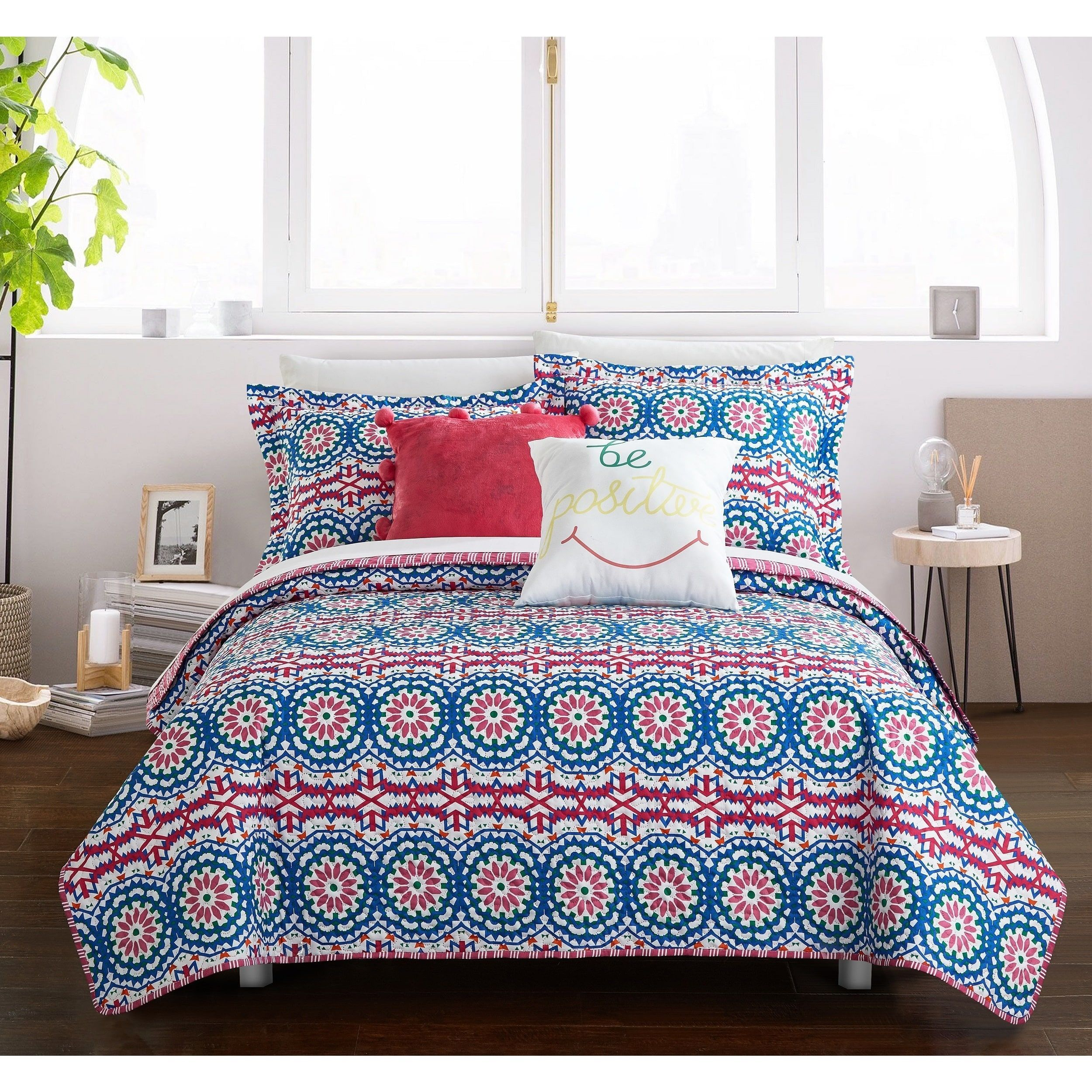 Chic Home Fuschia 9 Piece Reversible Bed In A Bag Set