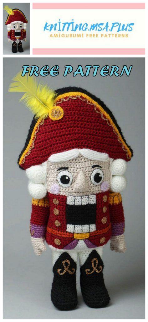 Amigurumi le patron de crochet gratuit de casse-noisette sans soldat – Amigurumi   – Amigurumi