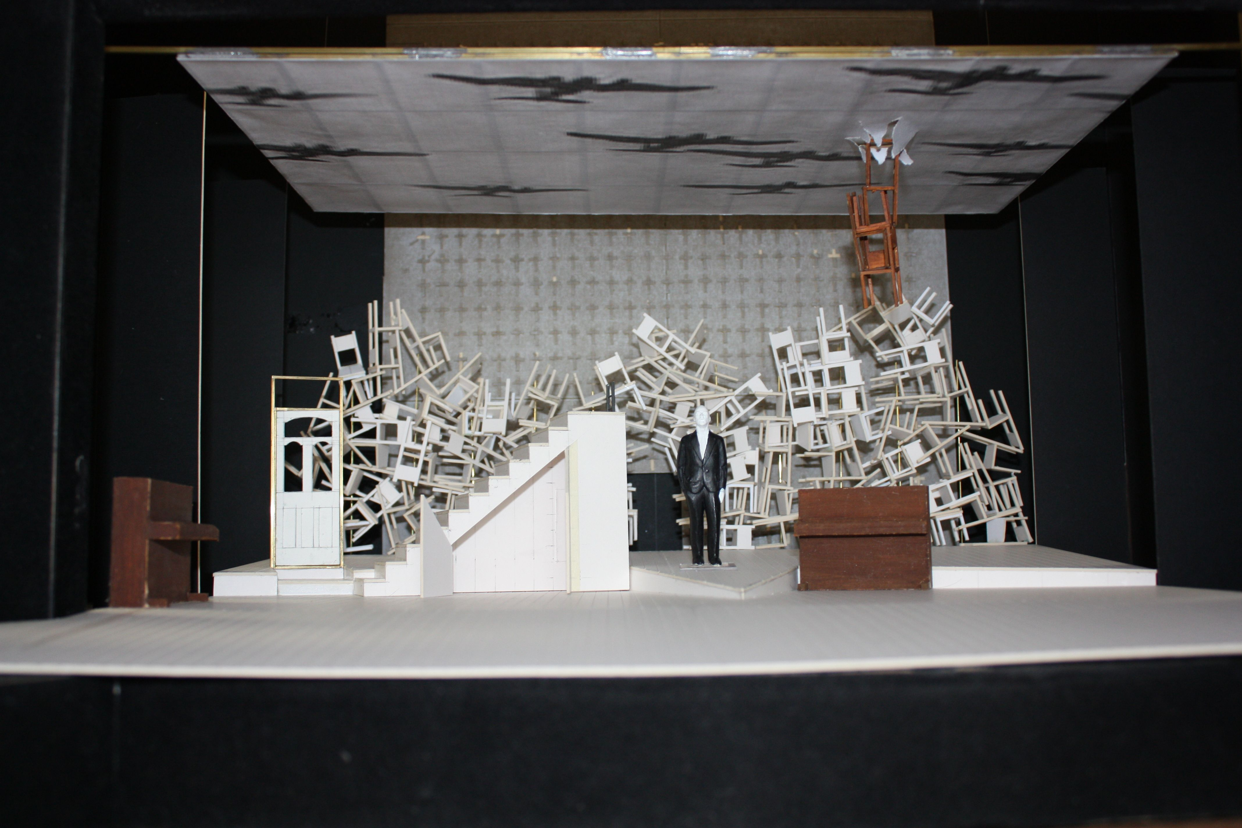 The model box of the set from our 2010 production of one for Theatre model