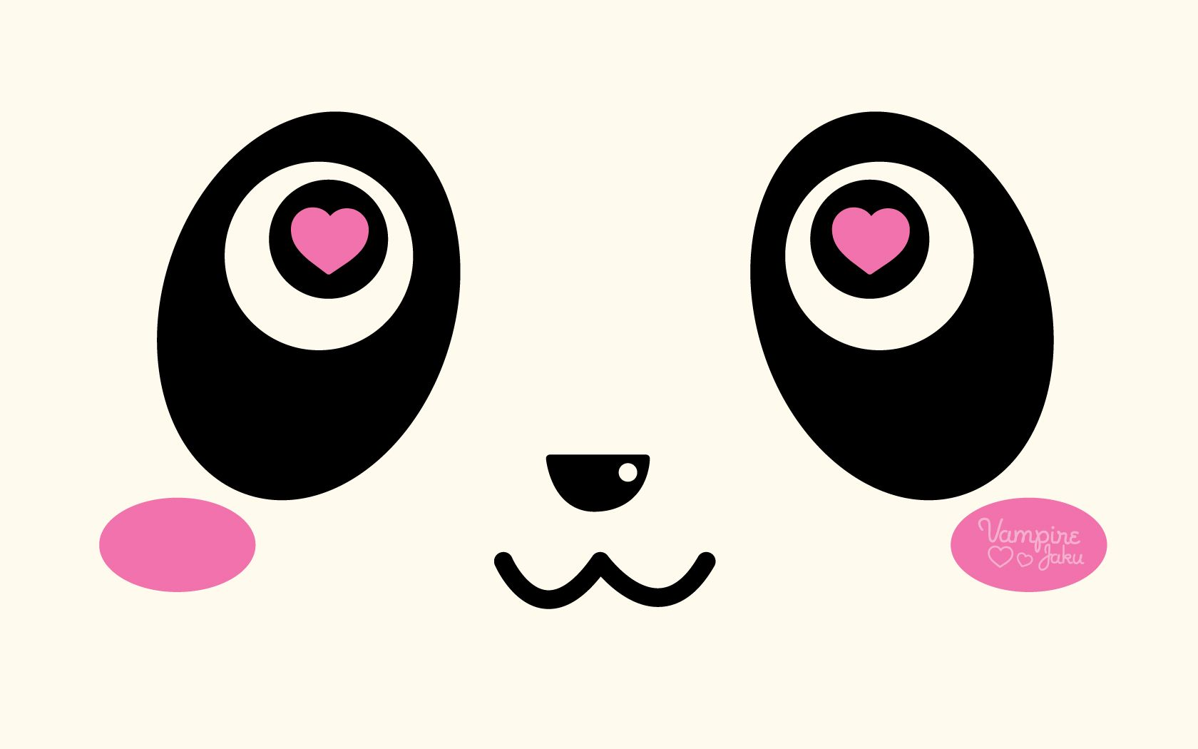 Panda Face Loves You Wallpaper