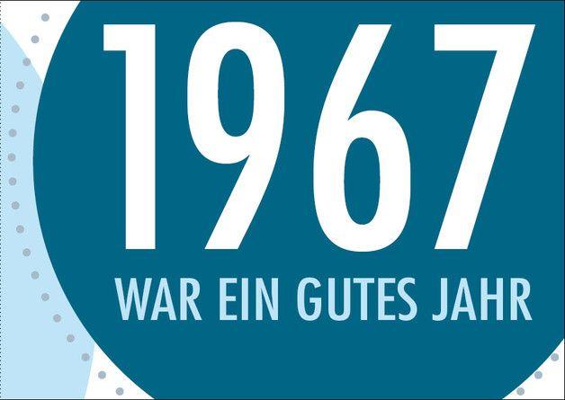 Einladungskarte Zum 50 Geburtstag 1967 War Ein Gutes Jahr