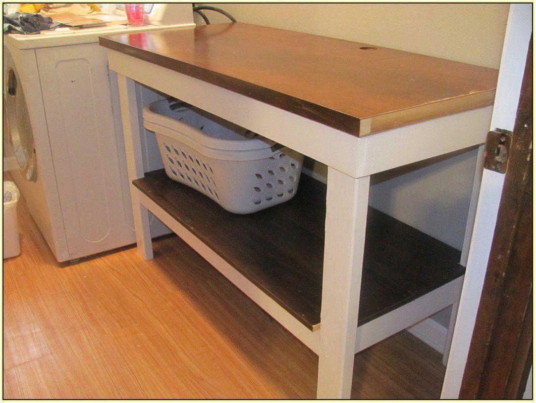 Laundry room folding table