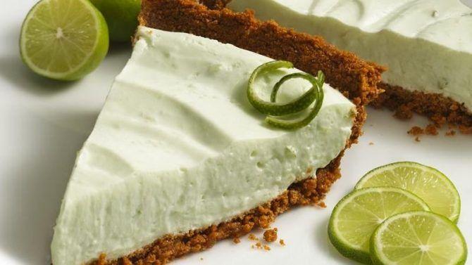 No-Bake Key Lime Yogurt Pie