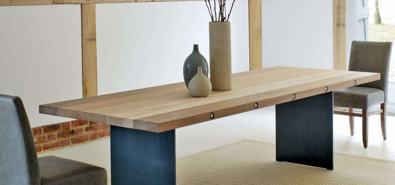 Bolt extending dining table in oak or walnut (With images