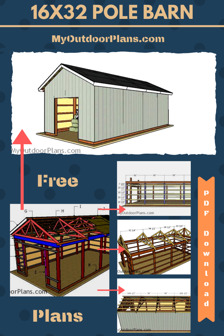 16 U00d732 Pole Barn  U2013 Free Diy Plans