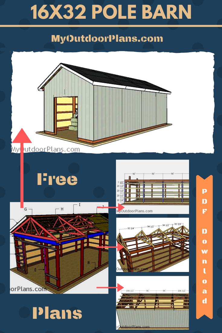 16 32 Pole Barn Free Diy Plans Pole Barn Plans Pole Barn Barn Plans