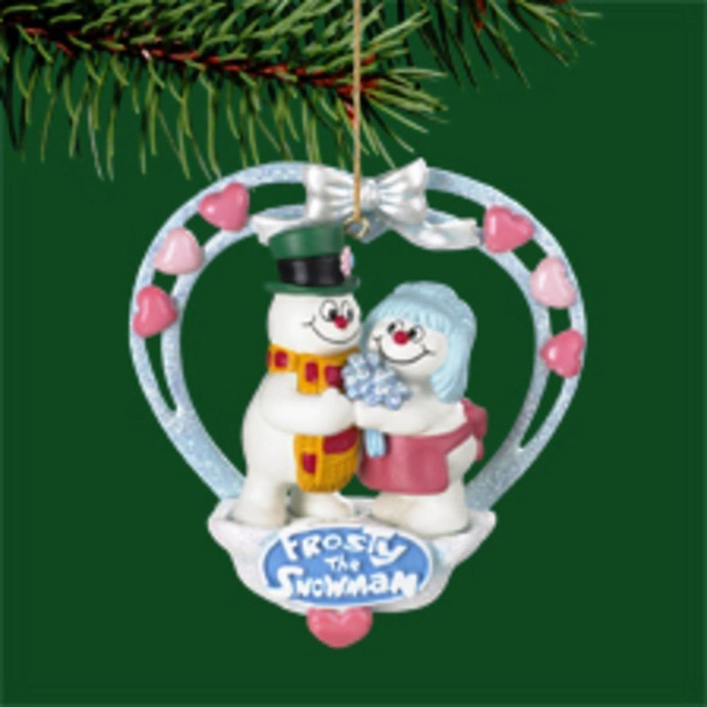 Carlton Heirloom Collection Mr. & Mrs. Frosty Snowman